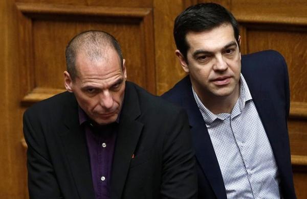 Finanzminister Giannis Varoufakis und Ministerpräsident Alexis Tsipras