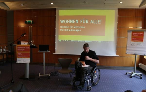 """Fachtagung """"Wohnen für Alle"""" - Teilhabe für Menschen mit Behinderungen am 14.4.2015"""