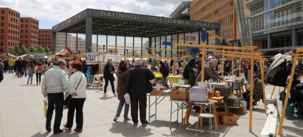 Flohmarkt auf dem Potsdamer Platz