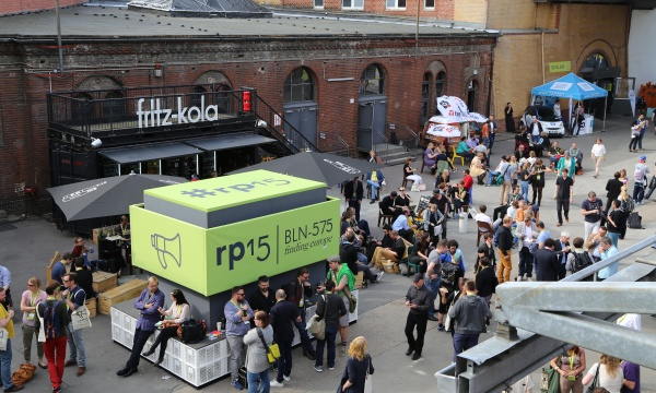 re:publica 2015 - Innenhof STATION Berlin