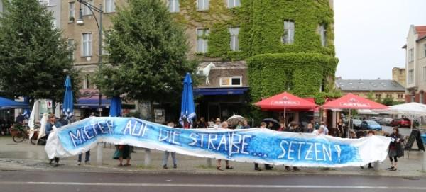 Sommer-Aktion des Mieterforum Pankow