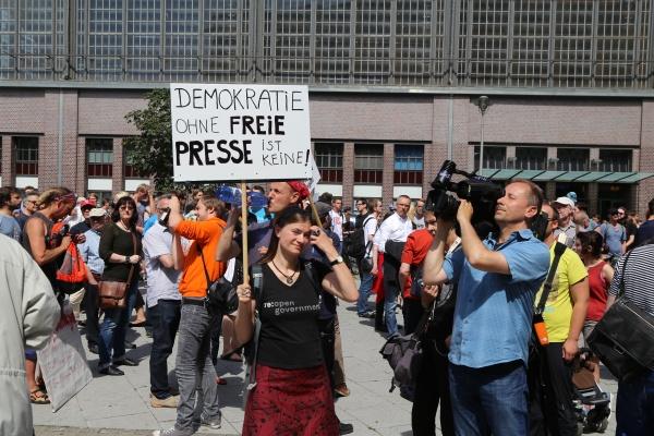 Demonstration am 1.8.2015