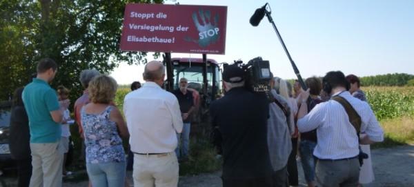 Bürgerinitiative Elisabeth-Aue am 9.8.2015