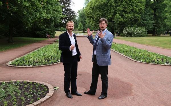 Thomas von Münster und Oliver Görs im Bürgerpark