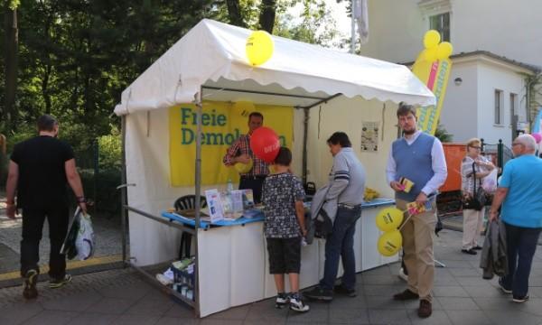 FDP Pankow auf dem Pankefest 2015