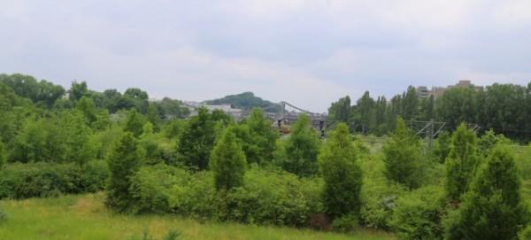 Mauerpark: Blick über die Baufläche