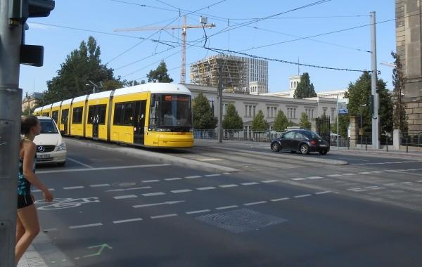 Tram-Fahrschule in der Invalidenstraße
