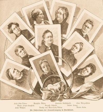 Führerinnen der Frauenbewegung in Deutschland. Illustration aus Die Gartenlaube (1894)