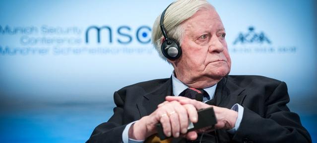 Helmut Schmidt , Januar 2014