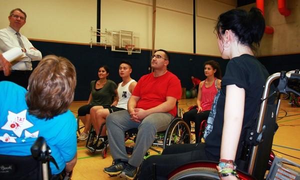 Rollstuhl-Sport beim Pfeffersport e.V.