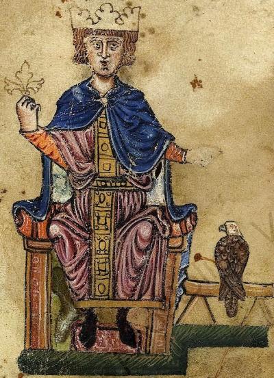 Friedrich II. (1194-1250) mit Falken