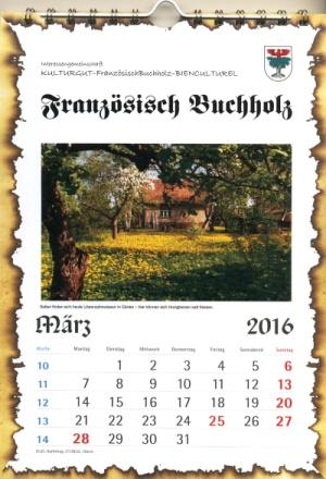 Bildkalender Französisch Buchholz 2016
