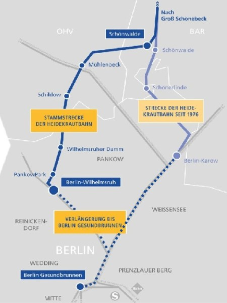Stammstrecke der Heidekrautbahn