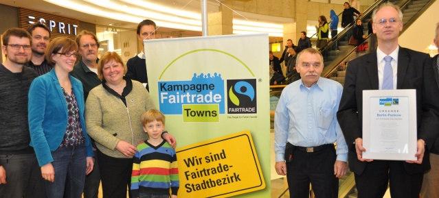Fairtrade-Bezirk Pankow: Verleihung am 12.1.2016