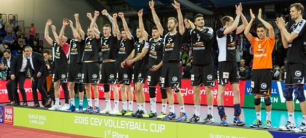 BR Volleys in Surgut auf dem 1.Platz