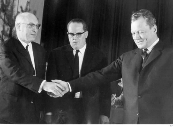 Fritz Erler, Herbert Wehner, Willy Brandt