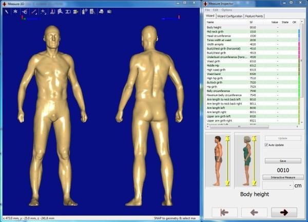Bodyscan:  Mensch im 3-D-Datenmodell