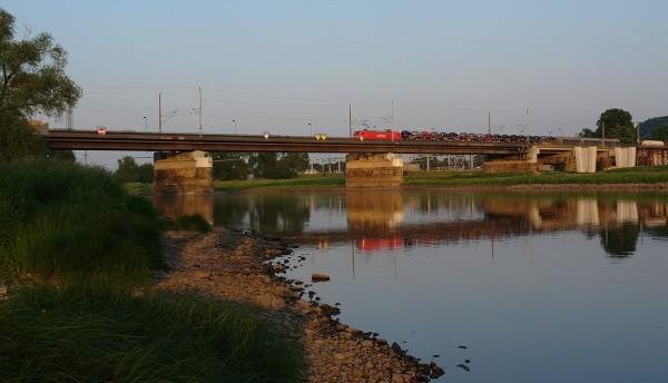 Eisenbahnbrücke über die Elbe bei Niederwartha