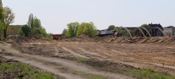 Pankower Tor - Erdaushub und Aufschüttungen