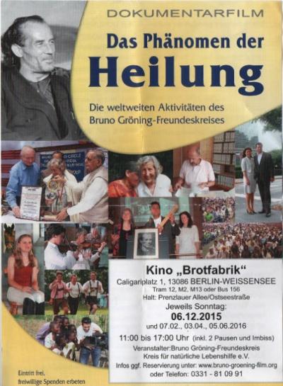 Flyer mit Veranstaltungsankündigung