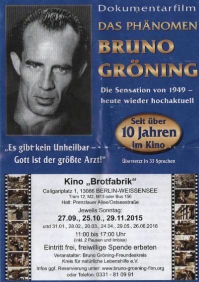 Flyer mit aktueller Veranstaltungsankündigung