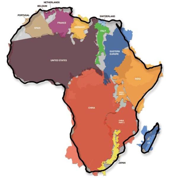 Afrikas wahre Größe