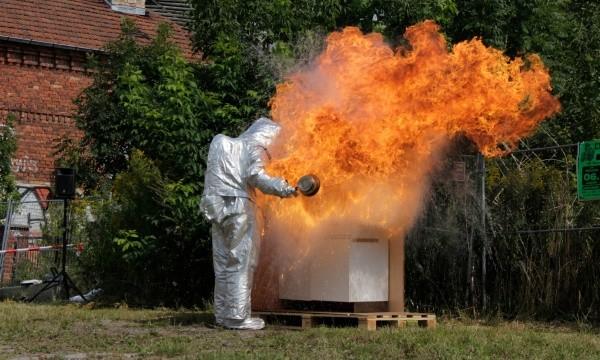 FF Karow: Löschübung Fettbrand