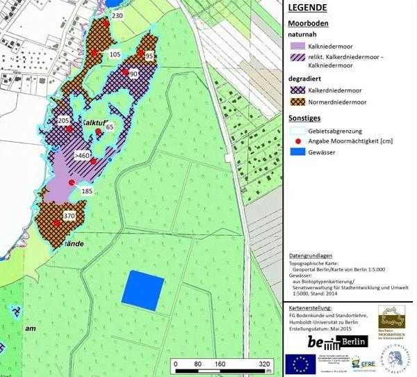 Moorbodenkarte Kalktuff-Gelände