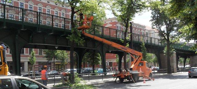 Baumarbeiten an der Schönhauser Allee