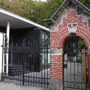 Eingang zum juedischen Friedhof an der Schönhauser Allee