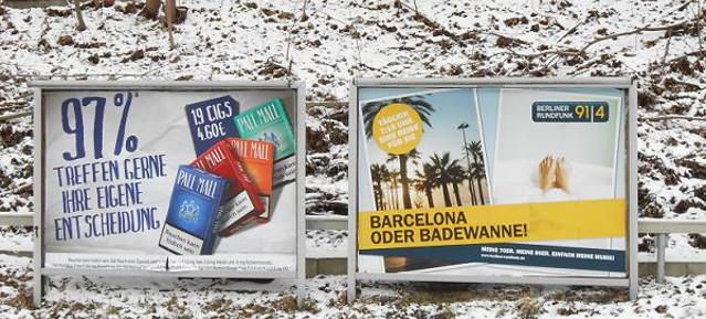 Barcelona oder Badewanne! - S-Bhf. Prenzlauer Allee am 18. Februar 2013
