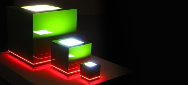Lichtskulpturen - Lichtobjekte Stefan Bechert - Galerie Blaue Stunde