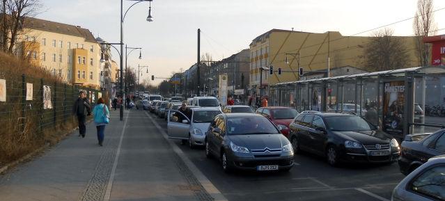 Verkehrsinfarkt am 6.3.2013 am Pankower Tor