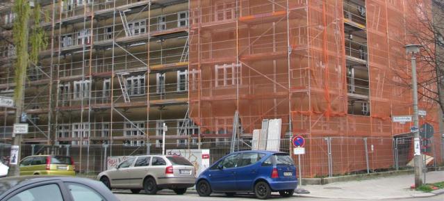 Baustopp bei der GESOBAU AG in der Hallandstr. / Trelleborger Str.