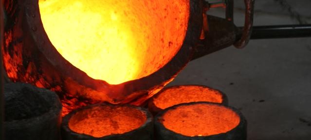 Bronzeguss in der Kunstgießerei Flierl in Weißensee - Foto: Galerie Flierl
