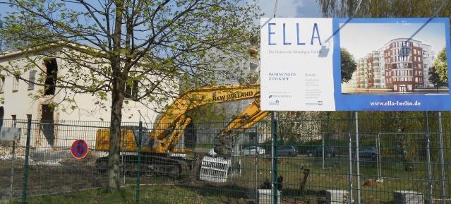 Bauarbeiten im Thälmann-Park