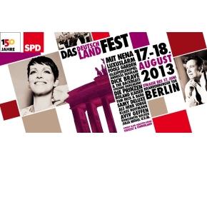 150 Jahre SPD - Das Deutschland Fest am 17./18. August 2013
