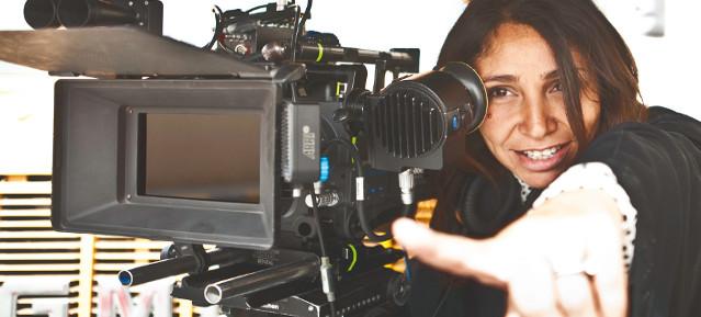 Haifaa al Mansour bei den Dreharbeiten
