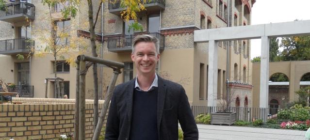 Lars Zimmermann an der Alten Mälzerei - Foto: Pankower Allgemeine Zeitung