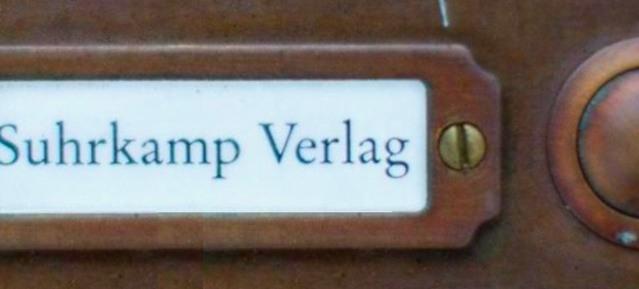 Suhrkamp Verlag - Klingelschild
