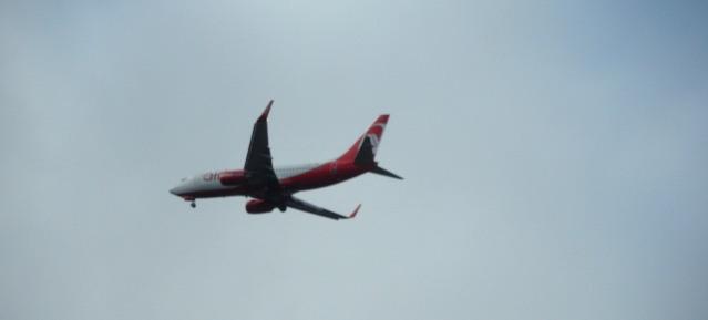 Air Berlin fliegt über Pankow ein!