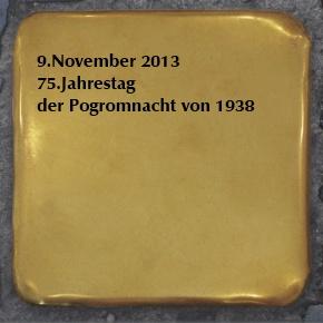 Stolpersteine - Gedenken an die Opfer der Pogromnacht 1938