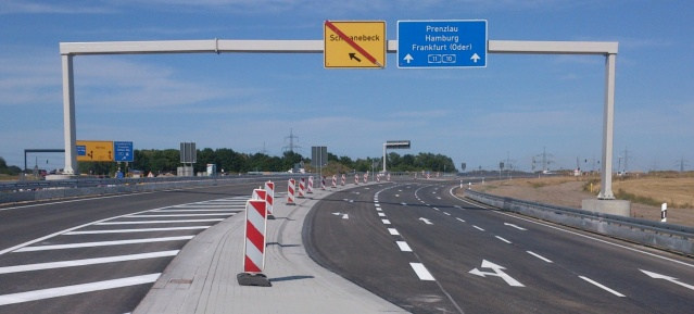 Autobahndreieck Barnim - Verbindungsrampe B2 - Foto: Pressefoto Eurovia