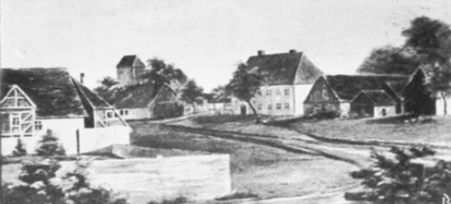 Das Dorf Weißensee - Postkarte undatiert