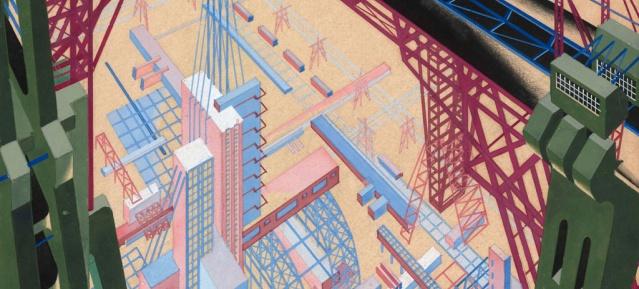YakovChernikhov: Architectural Fantasy 1929 - Bild: TchobanFoundation