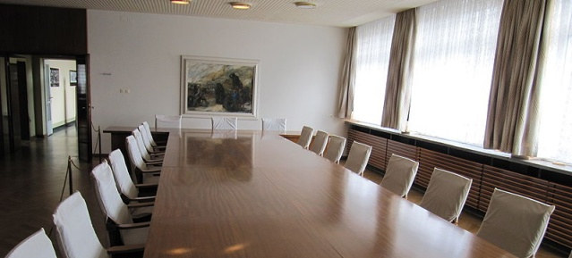 Konferenzraum in der Zentrale des Ministeriums für Staatsicherheit