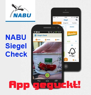 App ggeguckt! NABU Siegel Check