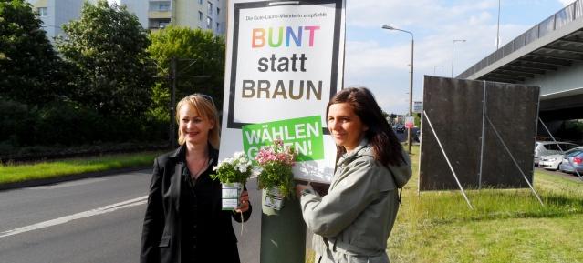 BUNT statt BRAUN - wählen gehen!