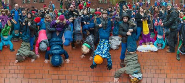Schüler der Homer Europaschule im Winter 2013