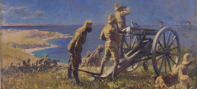Fritz Grotemeyer: Gefecht bei Tanga